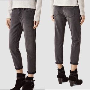 All Saints Fay Jeans in Dark Gray Size 32
